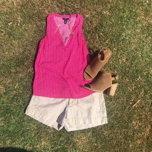 GAP pink sleeveless blouse sleeveless top